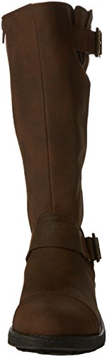 Rocket Dog Damen Terry Biker Boots Braun