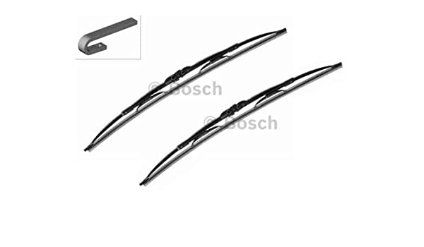Bosch Twin U Set 650/340 mm Limpiaparabrisas Escobilla Limpiaparabrisas Limpiaparabrisas Limpiaparabrisas Frontal 2 mmService: Amazon.es: Coche y moto