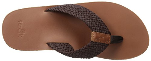 Doe Brown Sanuk Flip Braided John Flop Men's 0qwETA