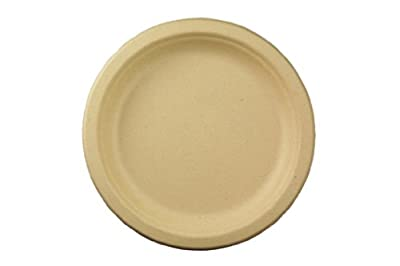 "World Centric's 100% Biodegradable, 100% Compostable Bagasse 7"" Plates (Package of 200)"