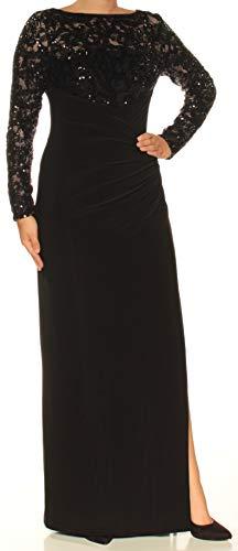 - Ralph Lauren $264 Womens New 9089 Black Sequined Sheath Dress 4 B+B