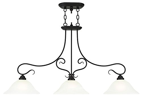Traditional 3 Light Island (Livex Lighting 6108-07 Coronado 3 Light Island Chandelier, Bronze)