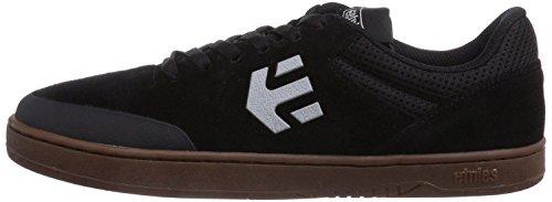 EtniesMarana Negro Gris Gum Suede HombresSkate Trainers Zapatos