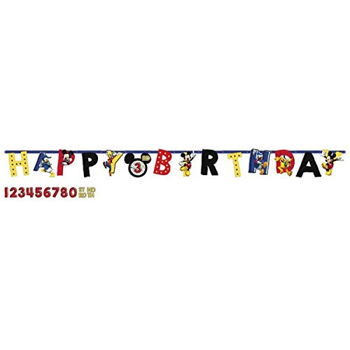 Disney Mickey Mouse Jumbo Add-An-Age Letter Banner, Birthday