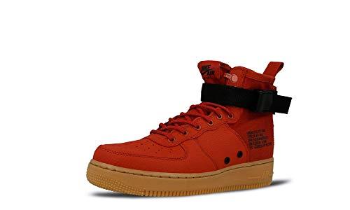 Nike Men's SF AF1 MID Dune Red/Black 917753-600 (Size: 8.5)