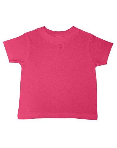Rabbit Skins baby-boys 5.5 oz. Short-Sleeve Jersey T-Shirt(3401)-HOT PINK-12MOS