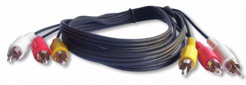 Your Cable Store 6 Foot RCA Audio/Video Cable 3 Male to 3 Male