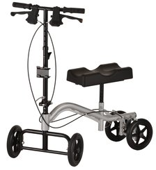 (Knee Walker TKW-12, Silver Frame, is an excellent mobility device for foot or ankle injuries when the affected area cannot bear weight or has limited weight bearing precautions. 300 Lb. weight limit.)