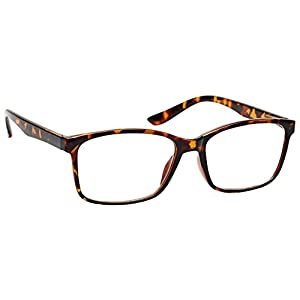 The Reading Glasses Company Brown Tortoiseshell Readers Large Designer Style Mens R83-2 +1.00