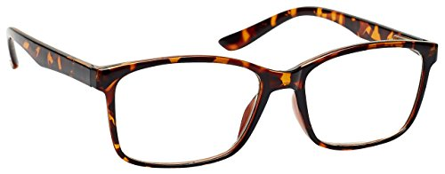 The Reading Glasses Company Brown Tortoiseshell Readers Large Designer Style Mens R83-2 +2.50