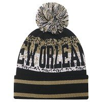 New Orleans Saints on Field Game Sideline Sport Knit Winter Stocking Beanie Pom Hat