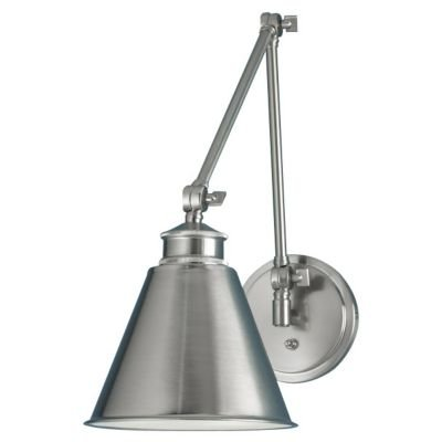 Norwell Lighting 8475-BN-MS Aiden One Light Swing Arm (Brushed Nickel w/Metal Shade) (Aged Brass Swing Arm Lamp)