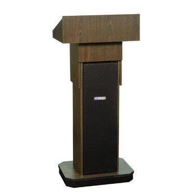 Amplivox Executive Adjustable-Height Non-Sound Lectern - Walnut - Walnut