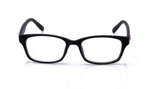 Newbee Fashion - Fashionista Unisex Squared Fashion Clear Lens Glasses Black V2