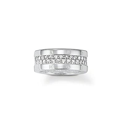 1b9e3e5b3d8bab Thomas Sabo Glam & Soul Eternity Women's Ring 925 Silver With Transparent  Size: 54 (17.2) TR1939 Silver - 54 in: Amazon.co.uk: Jewellery