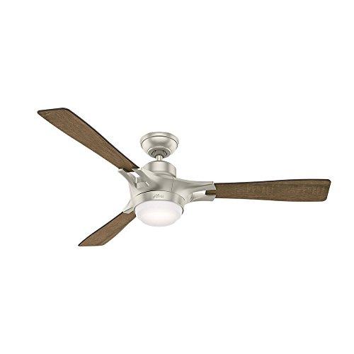 Hunter Fan Company 59224 Signal Ceiling Fan with WiFi Capability & Apple Homekit Intregration, Large, Satin Nickel