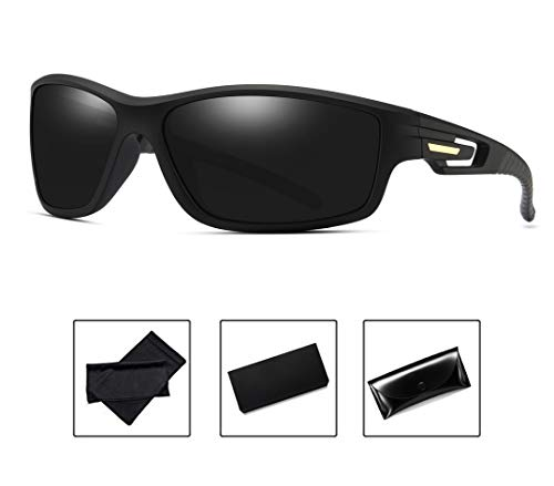 d70a21293791 Polarized Sunglasses Mens Women Night Driving Anti Glare HD Vision Sports  Sunglasses(Black)