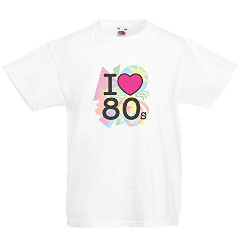 lepni.me Kids T-Shirt I Love 80s Concert t Shirts Vintage Cl