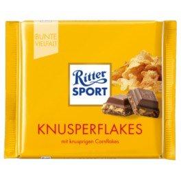(RitterSport Knusperflakes - Milk chocolate with cornflakes 100g)