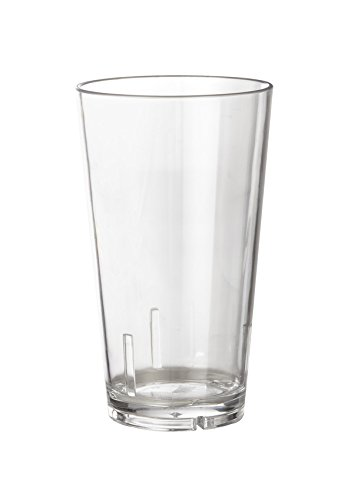 (16 oz. Cocktail Shaker Glasses, Clear Break Resistant Plastic, GET S-16-1-CL-EC (Pack of 4) )