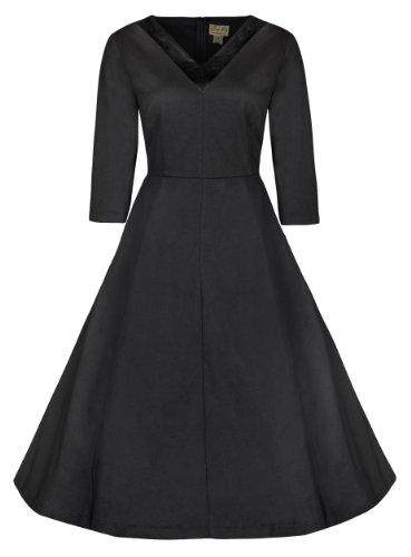 Lindy-Bop-Carmen-34-Sleeved-V-Neck-Vintage-1950s-Party-Swing-Dress