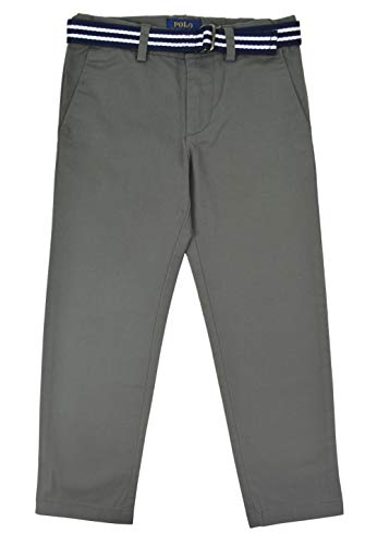 - Polo Ralph Lauren Boys 100% Twill Cotton Chino Dress Pants with Belt Grey (7)
