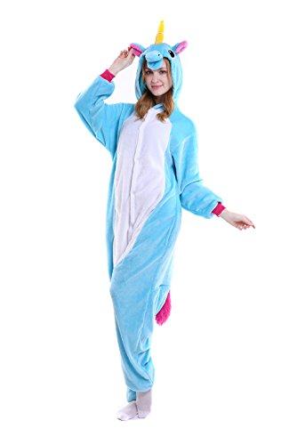 [Unicorn Onesie Kids –FeelMeStyle Unisex Onesies Pajamas Kigurumi Cosplay Sleepsuit Costume Animal Jumpsuit] (Child's Unicorn Costume Uk)