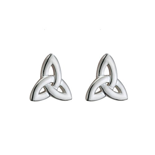 (Trinity Knot Earrings Irish Studs Sterling Silver Made in)