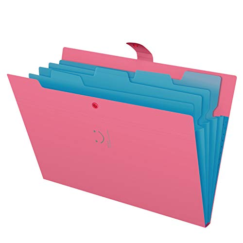 Skydue Letter A4 Paper Expanding File Folder Pockets Accordion Document Organizer (Fuchsia) (Accordion 2 Tones)