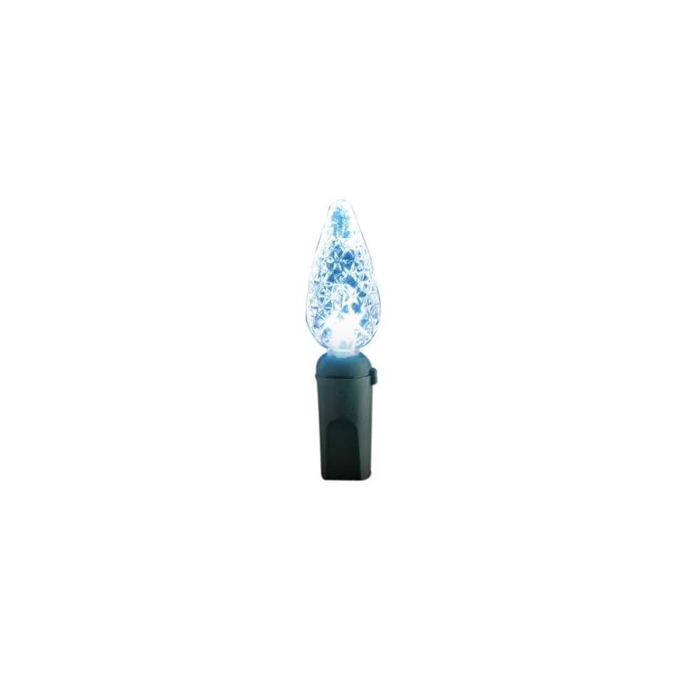 GKI/Bethlehem Lighting FlexChange Indoor/Outdoor Faceted Cone Shaped Mini LED Christmas Light Set, White