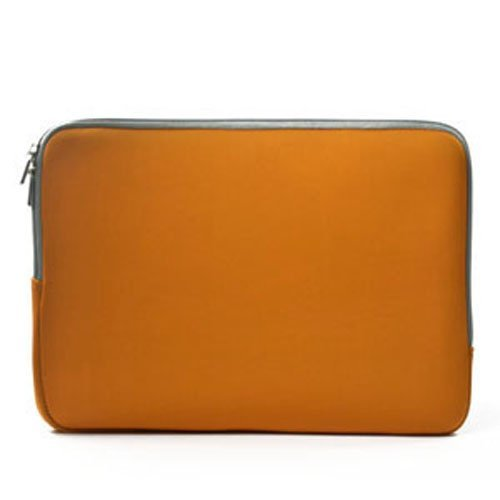 TOP CASE Zipper Sleeve Bag Cover Case Compatible with All Laptop 13 13 inch MacBook Pro/MacBook Unibody/MacBook Air with TOP CASE Logo Mouse Pad (Orange)
