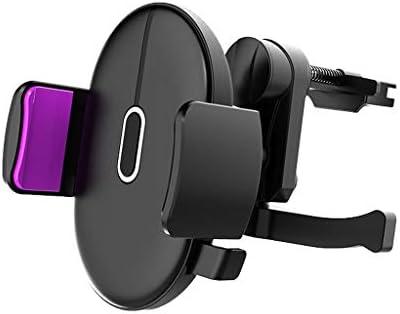 車の電話ホールダー、車の出口ブラケット360度回転車の電話ホルダーユニバーサルブラケット (色 : 紫の)