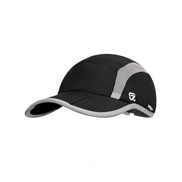 fb8a80a37 GADIEMKENSD UPF 50+ Outdoor Hat Folding Reflective Running Cap Unstructured  Sport Hats for Men & Women