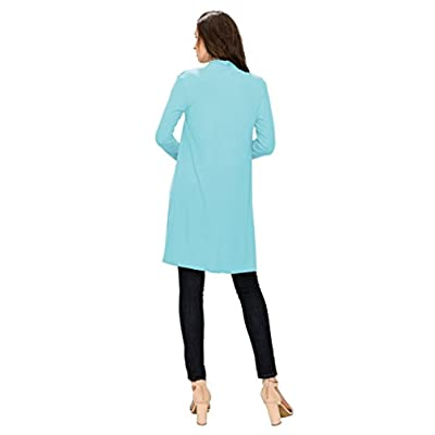 MBJ Womens Long Sleeve Open Front Long Cardigan - Made in USA at Women's Clothing store