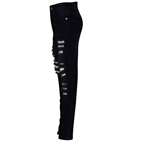 Kids Girls Skinny Jeans Denim Ripped Fashion Stretchy Pants Jeggings 3-14 Years 4