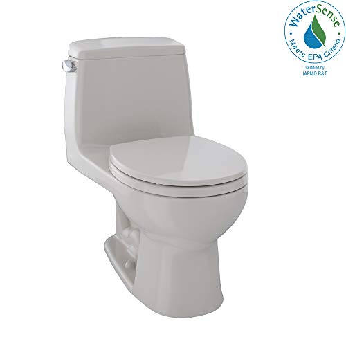 Front High Round Toilet - TOTO MS853113E#12 Eco Ultramax Round Front One Piece Toilet, Sedona Beige