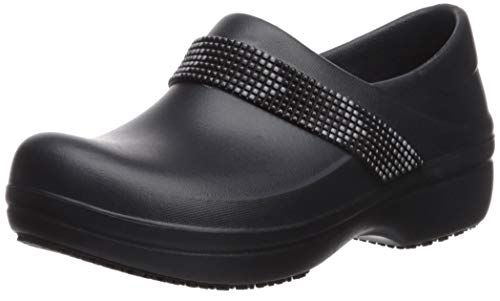 Crocs Women's Neria Pro II Embellished Clog Shoe, Multi/Black, 8 M US