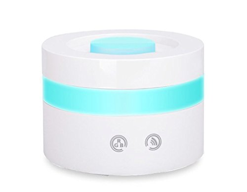 100ml USB Aroma Essential Oil Diffuser Ultrasonic Cool Mist Humidifier Desk,Travel Size Aromatherapy Diffuser Quiet with 7 LED Color & Auto Shut-off for Baby Kids Bedroom Home Office Spa Gym