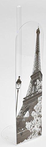 Evideco Bathroom Freestanding Printed Toilet Tissue Paper Paris City Roll Holder Reserve 4 Rolls