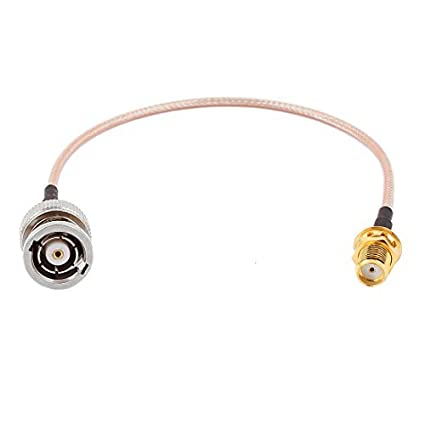 eDealMax RP-BNC-J hembra a SMA-KY Mujer RG316 Cable coaxial Flexible