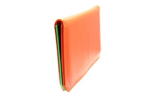 FreshGadgetz 1 Set di Colore arancione Bi volte titolare di Carta Wallet per le donne
