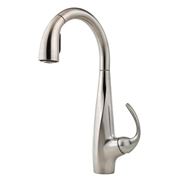 Pfister F-20-20ANS Avanti 20-Handle Pull-Down Kitchen Faucet ... | (title} | 1.5 gpm kitchen faucet