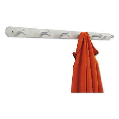 Nail Head Coat Rack with 6 Hooks [Set of 6] (Safco Products Six Hook)
