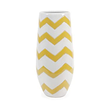 IMAX Essentials Mellow Yellow Chevron Vase