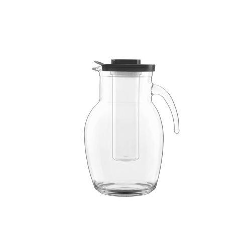 Michelangelo Beverage - Luigi Bormioli Michelangelo Pitcher with Cooling Tube, 84 oz., Clear