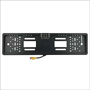 GDW cs1017 europeo carnet de conducir de placa de la cámara de vista trasera - negro