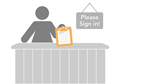 ABC Self Adhesive Patient Sign-In Sheet, 8 1/2'' x 11 5/8'', Icons - 100 Sheets by Deluxe Well-Designed (Image #1)