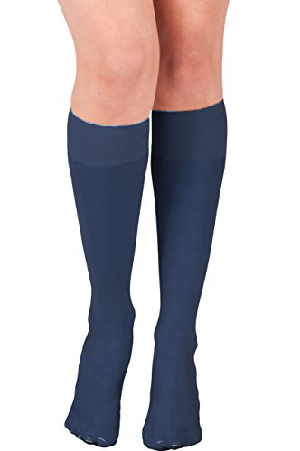 KMystic Womens Trouser Socks Knee High (Indigo) ()