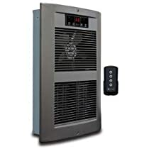 King Electric Forced Air Wall Heater LPW2445-ECO-SN-R with Remote, Nickel 240V 4500W