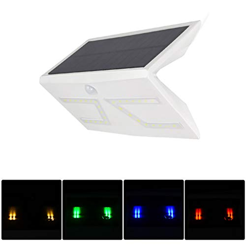 Naiflowers Lights Outdoor Solar Light, 2-in-1 Wireless Waterproof Motion Sensor LED, IP65 Waterproof Garden Security Flood Lamp for Yard, Patio, Path, Yard, Lawn, Walkway, Driveway (White)